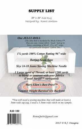 Jelly Roll Rug Oval