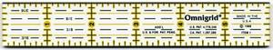 Linjal Omnigrid 1 x 6 Inch
