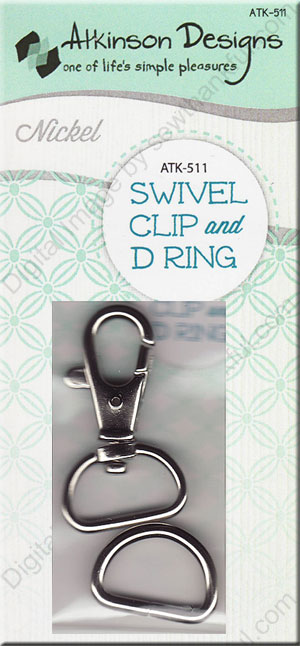 Karbinhake och D-ring Antik Mässing