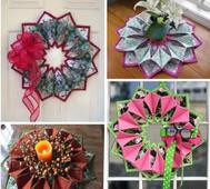 Fold´n Stitch Wreath
