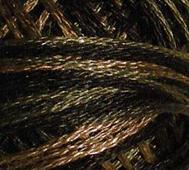 Handfärgat Garn Svart/Brun