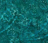 Batik Grönblå