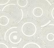 Vitt med grå cirklar