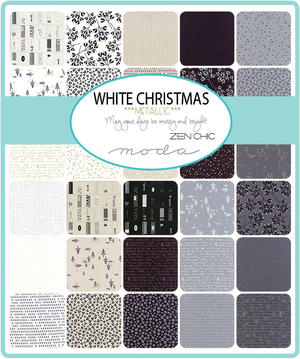 White Christmas Charm Pack 5""
