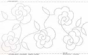 Papper till Kviltning Flowers