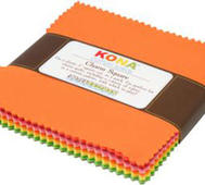 Charm Pack Kona Cotton Solid Sunrise