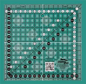 Linjal Creative Grids 16,5 x 16,5 Centimeter