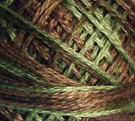Handfärgat Garn Grön/Brun