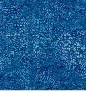 Batik Fyrkanter Blå